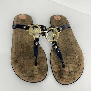 Michael Kors MK Charm Jelly Thong Sandals